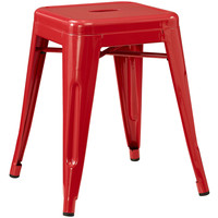 Gathering Modern Electric-Plated Metal Stool Red