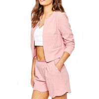 Open Front Long Sleeve Blazer