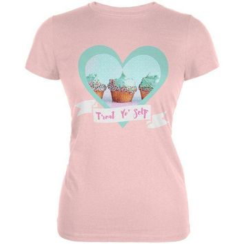 DCCKU3R Treat Yo Self Cupcakes Juniors Soft T Shirt