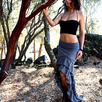 Anokhi Skirt - Hight To Low Lace Ruffle Skirt - Burning Man - Boho Gypsy
