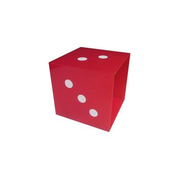 Pre-owned Giant Pop Art Red Dice Panton Era  Display Cube