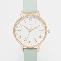 Olivia Burton For ASOS Midi White Face Mint Watch