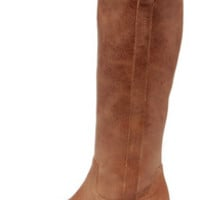 Very Volatile Sheeley Tan Leather Riding Boots