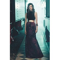 Burgundy Detailed Gown