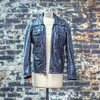 The Masselin | Women's Black Leather Zip Up Bomber by wolf and lamb