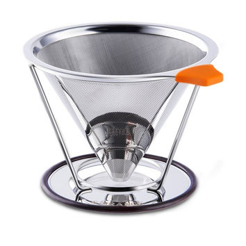 Pour Over Coffee Filter - E-PRANCE Cone Coffee Dripper Paperless Permanent 18...