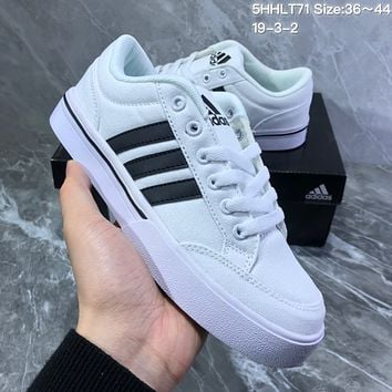 HCXX A727 Adidas NEO campus opens mouth to laugh canvas board shoe White Black
