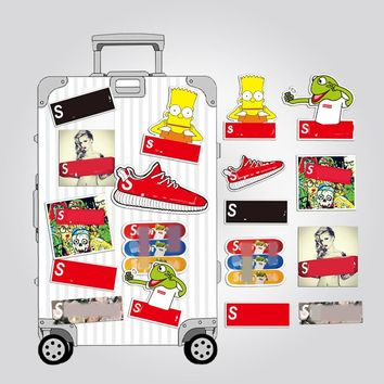 Brand logo Simpsons cartoon anime sticker Waterproof Suitcase Laptop Guitar Luggage Skateboard Bicycle Toy lovely FUNNY Stickers