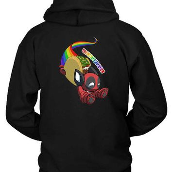 ESBH9S Marvel Deadpool Nyan Taco Pet Hoodie Two Sided