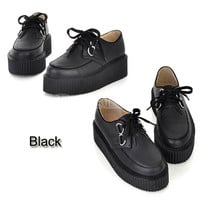 Black Platform/Creepers Cute Fashion Shoes Kawaii