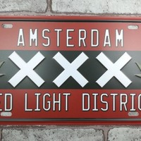 1 pc Amsterdam Marijuana plaques Tin Plate Sign plate wall man cave Decoration Metal Art dropshipping Poster metal