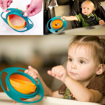 Universal Rotate Spill Proof Lunch Box Bowl Dishes - Free Shipping
