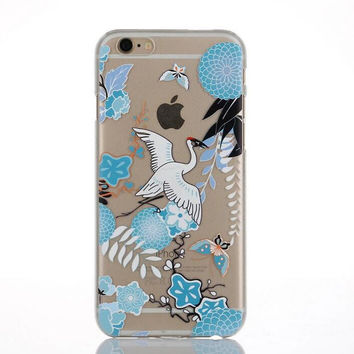 Originality Bird Lace iPhone 6 6s Case Ultrathin Transparent Cover Gift