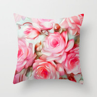 Shabby Chic Pink Throw Pillow by Jacqueline Maldonado | Society6