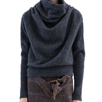 Acne Studios - Vendome mohair dark grey melange