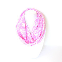 Purple Scarf, Mauve Scarf, Infinity Scarf, Women Scarves, Geometric Scarf, Abstract Scarf