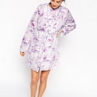 ASOS Photographic Floral Print Jersey Robe