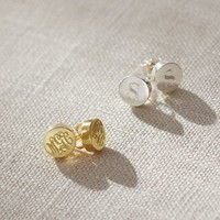 Sarah Chloe Lia Monogram Stud Earrings