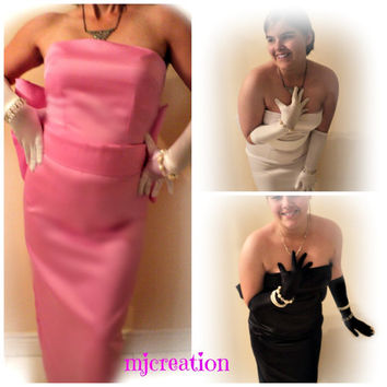dress costume mjcreation made to order marilyn monroe diamonds inspiration in pink white or black dress custom order handmade