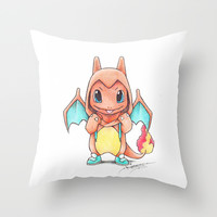 A Burning Passion Throw Pillow by Randy C