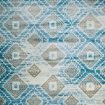5680 Blue Aztec Contemporary Area Rugs