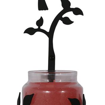 Wrought Iron Hummingbird Sconce - Candle Holder