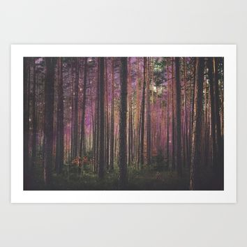 COSMIC FOREST UNIVERSE Art Print by deificus Art