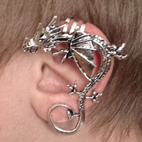 DRAGON EAR CUFF for Non-Pierced Left or Right Ear inspired by Game of Thrones