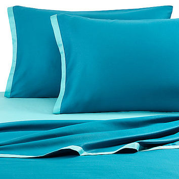 KAS® Two Tone Sheet Set in Light Teal/Dark Teal