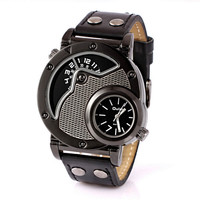 Mens Boys Rivet Leather Strap Watches Explorer Outdoor Sports Mountaineering Watch Best Christmas Gift