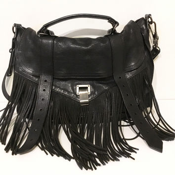 Proenza Schouler PS1 Fringed Leather Shoulder Bag