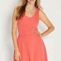 skater dress in textured fabric | maurices