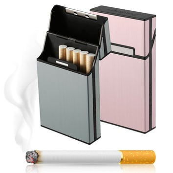 1pcs Light Aluminum Cigar Cigarette Case Tobacco Holder