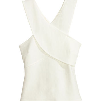 Wrap-front Top - from H&M