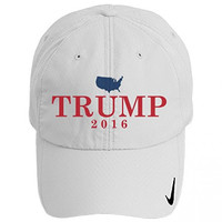 Trump for America 2016: Nike Golf Sphere Dry Hat OS White