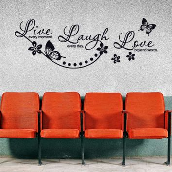 Live, Laugh, Love Wall Decal Quote