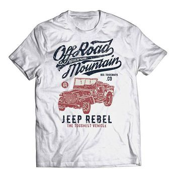Off Road Adventure - Classic Jeep Rebel Offroad - Jeep Mudding Shirt - Classic Jeep - Old School Vintage Grunge Tee Clothing TShirt 0041