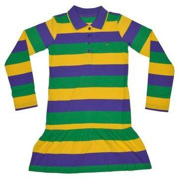 Mardi Gras Little Girls Polo/Rugby Dresses
