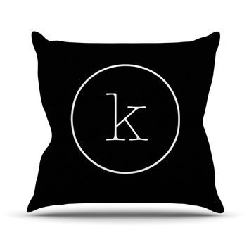 "KESS Original ""Simple Black Monogram"" Throw Pillow"