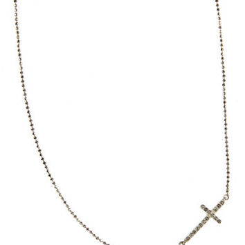 Judith Jack Chain and Cross Pendant Necklace