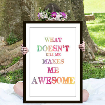 Make Me Awesome Print, Inspirational Quote, Motivational Poster, Gift Ideas, Shabby Chic, Wall Art, Home Decor, Typography Print - PT0119