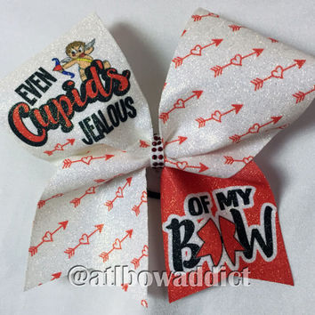 Cheer Bow - Valentine's Day Cheer Bow