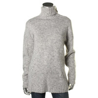 Lord & Taylor Womens Wool Blend Long Sleeves Turtleneck Sweater