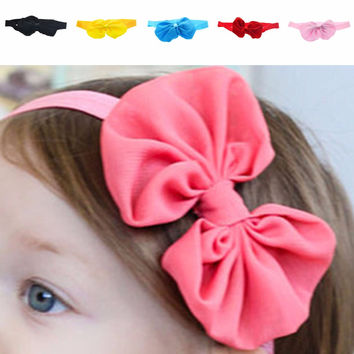 New Brand Big Bow Shaped Baby Girl Headbands for Christmas Gift