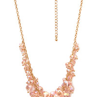FOREVER 21 Rock Candy Necklace Light Pink/Gold One