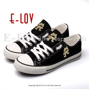 E-LOV Customized Rock And Roll Fashion Stars Printed Canvas Shoes Lace-up Flat Women Girls Walking Shoe Espadrilles