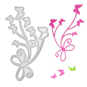 Beautiful Bow Flying Butterfly Metal Cutting Die Stencil DIY Carbon Steel Scrapbook Paper Card Craft Decoration