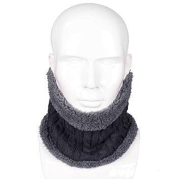 New Fashion Design Winter Knitted Scarves Men Women Plus Cotton Wool Collar Scarf Warmer Man Neck Scarf Unisex