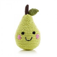 Smiling Pear - Fair Trade Knitted Baby Rattle