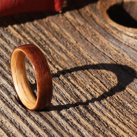East Indian Rosewood Bentwood Ring with Oak Liner by BojtStudio